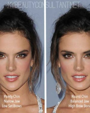 ideal women's chin shape